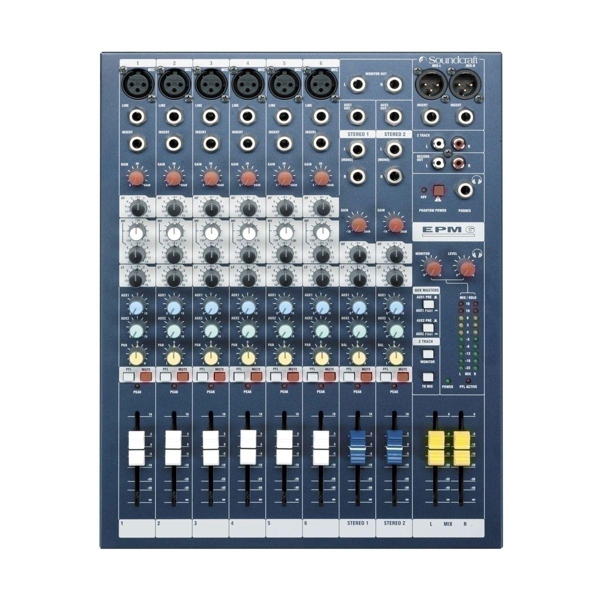 Consoles analogiques - Soundcraft - EPM 6