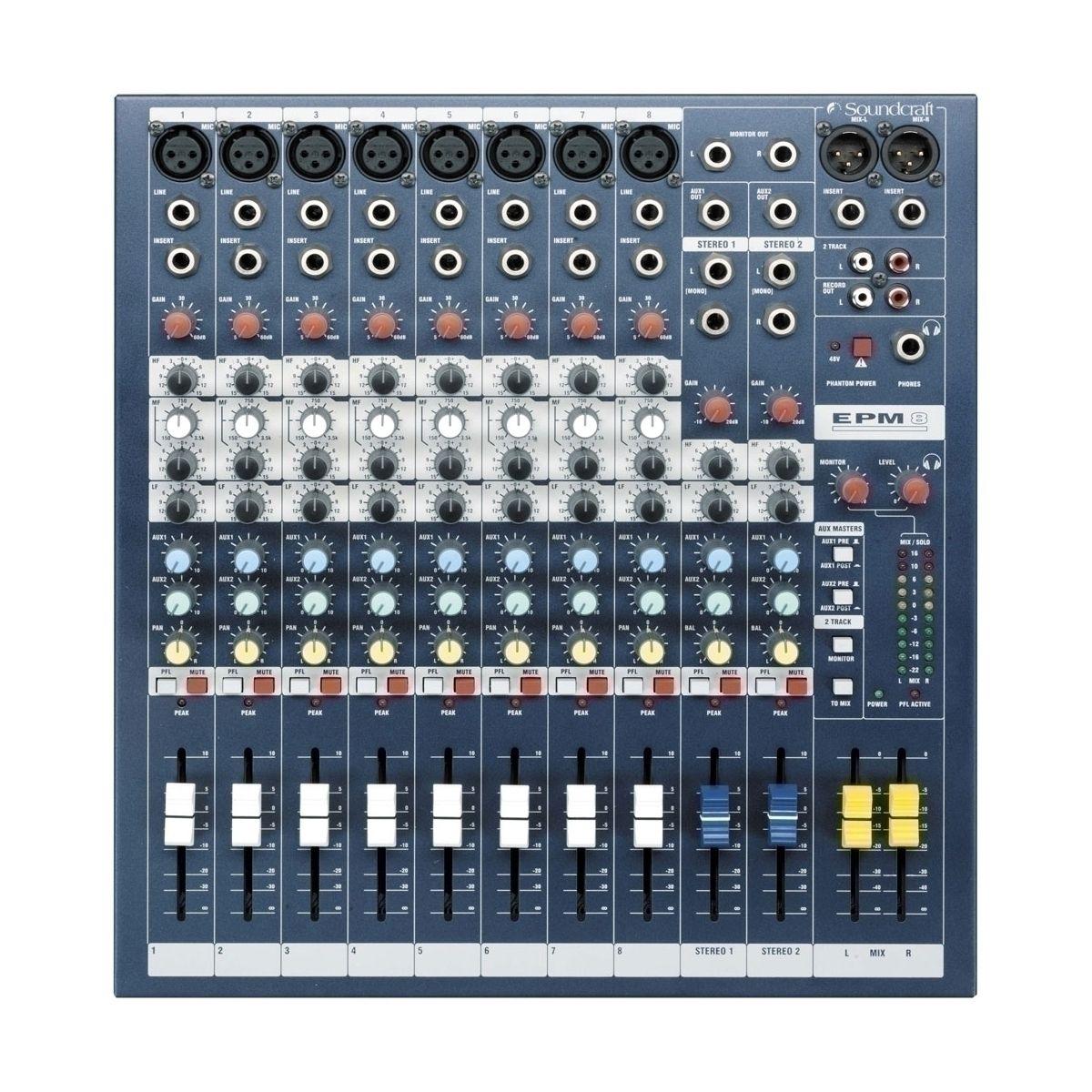 Consoles analogiques - Soundcraft - EPM 8
