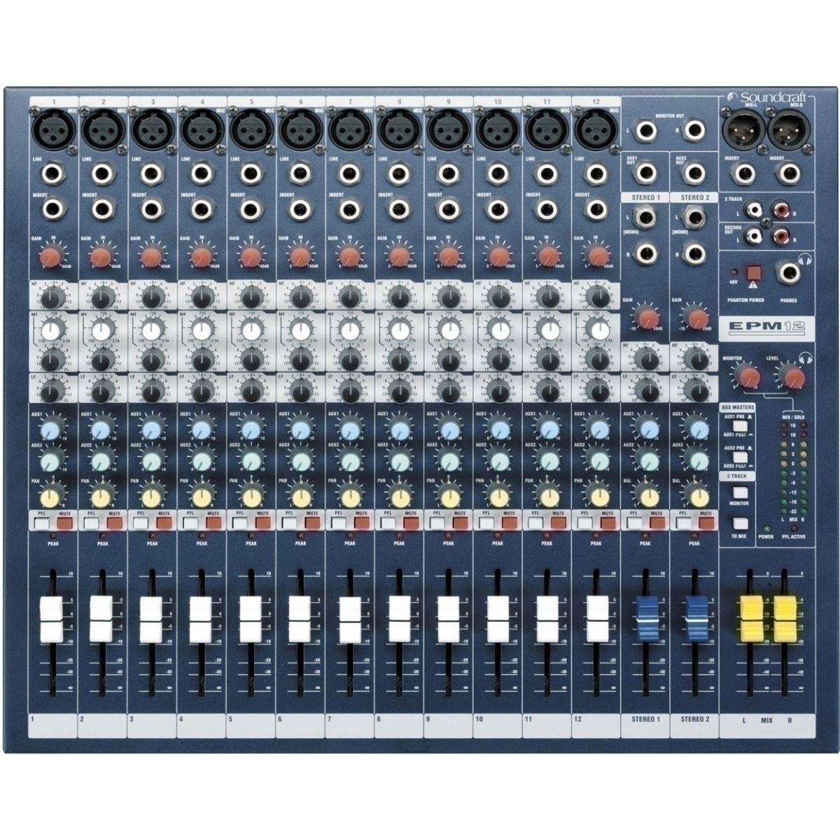 Consoles analogiques - Soundcraft - EPM 12