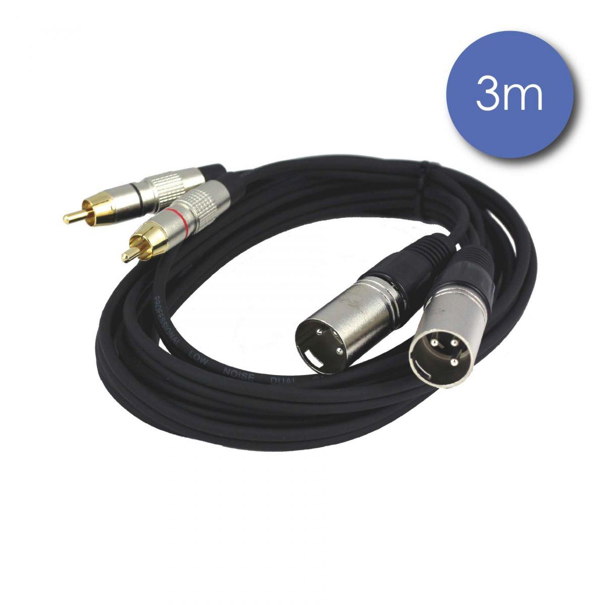 Câbles RCA / XLR - Power Acoustics - Accessoires - CAB 2066