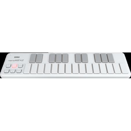 Controleurs midi USB - Korg - NANOKEY2 (Blanc)