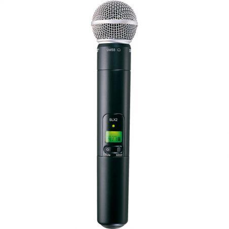 Micros chant sans fil - Shure - SLX2-SM58 Emetteur Main