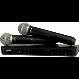 Micros chant sans fil - Shure - BLX288E-PG58-M17