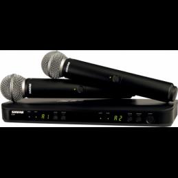 Micros chant sans fil - Shure - BLX288E-SM58-M17