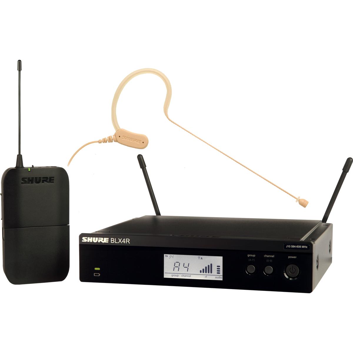 Micros serre-tête sans fil - Shure - BLX14RE-MX53-M17
