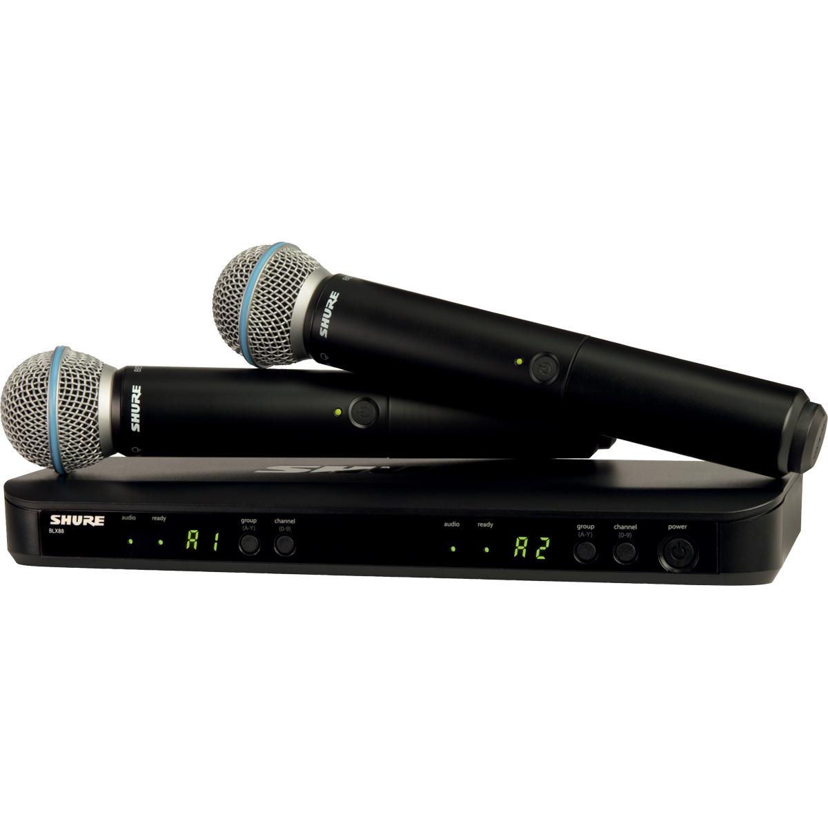 Micros chant sans fil - Shure - BLX288E-BETA58-M17