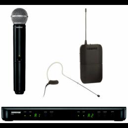 Micros chant sans fil - Shure - BLX1288-MX53-M17