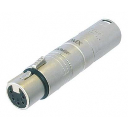 Adaptateurs - Neutrik - Adaptateur DMX 3M / 5F NA3M5F
