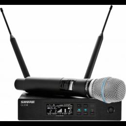 Micros chant sans fil - Shure - QLXD24-B87A Beta87A