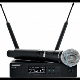 Micros chant sans fil - Shure - QLXD24-B58 BETA58A