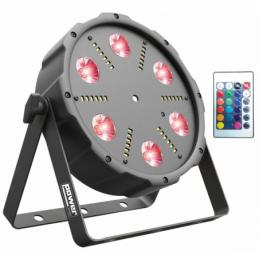Projecteurs PAR LED - Power Lighting - PAR SLIM 6x9W ALL-IN-1