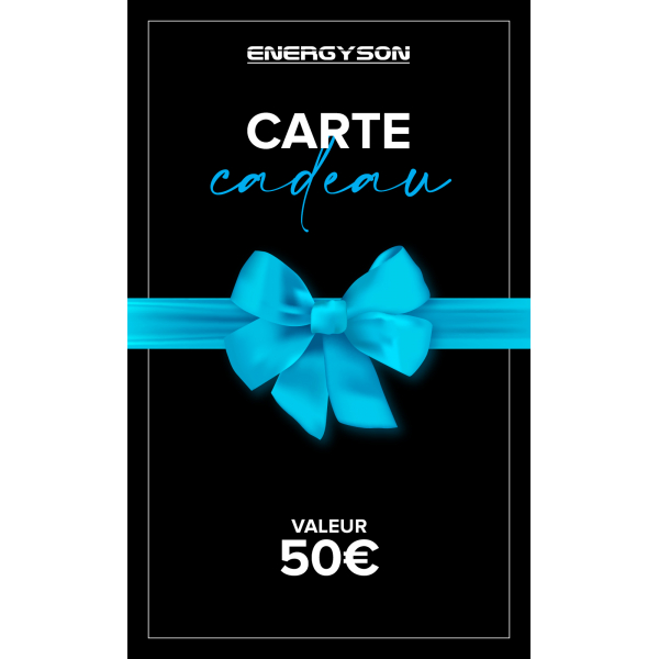 Accueil - Energyson - Carte Cadeau 50€
