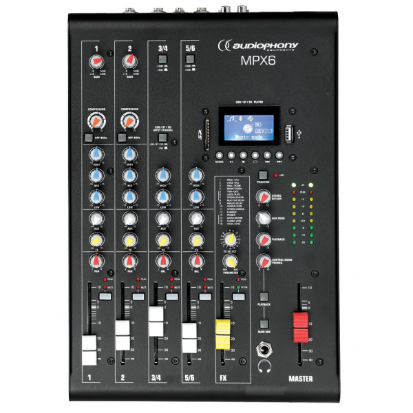 Consoles analogiques - Audiophony - MPX6
