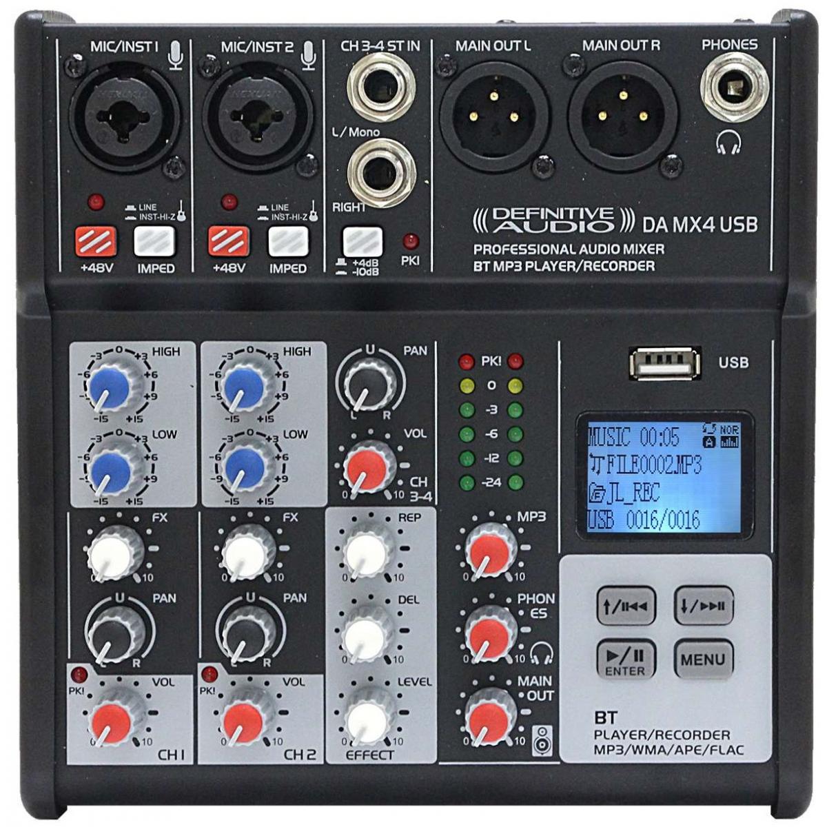 Consoles analogiques - Definitive Audio - DA MX4 USB
