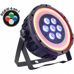 Projecteurs PAR LED - Power Lighting - PAR 7x10W QUAD RING