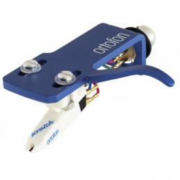 Cellules complètes pour platines vinyles - Ortofon - OM SCRATCH WHITE ON SH-4 BLUE