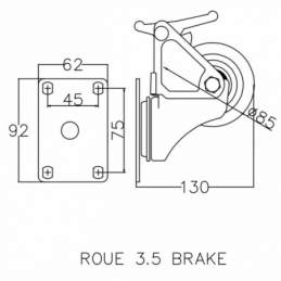 Roues - Power Acoustics - Accessoires - ROUE 3.5 BRAKE