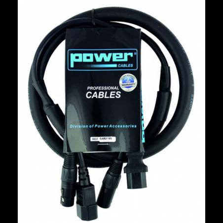 Câbles DMX éclairage XLR 3 points - Power Acoustics - Accessoires - CAB 2196