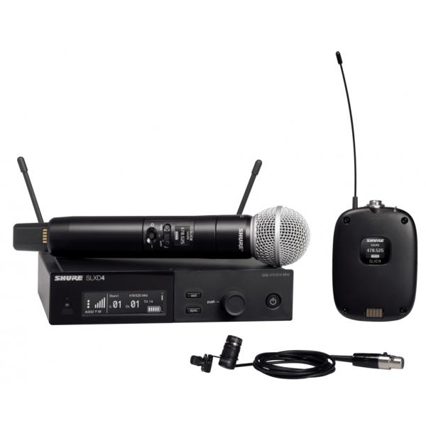 Micros chant sans fil - Shure - SLXD124E/85-H56