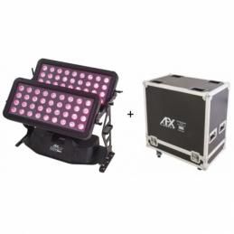 Projecteurs architecturaux LED - AFX Light - CITYCOLOR800 + FLIGHT CASE