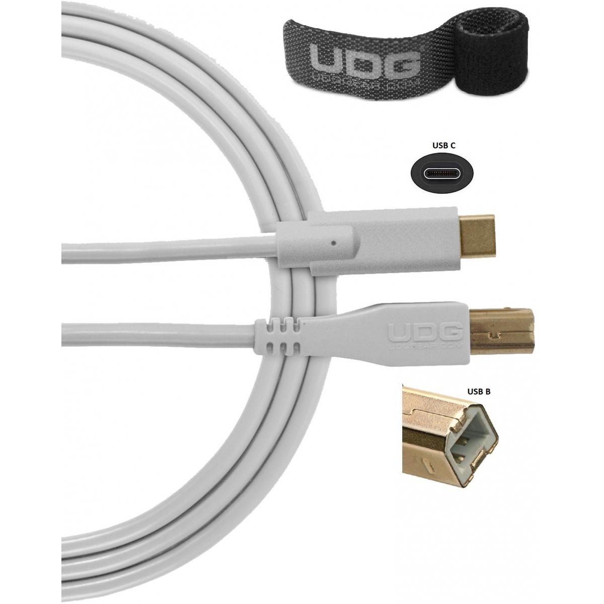 Câbles mini USB A vers B - UDG - U96001WH (1,5 mètres)