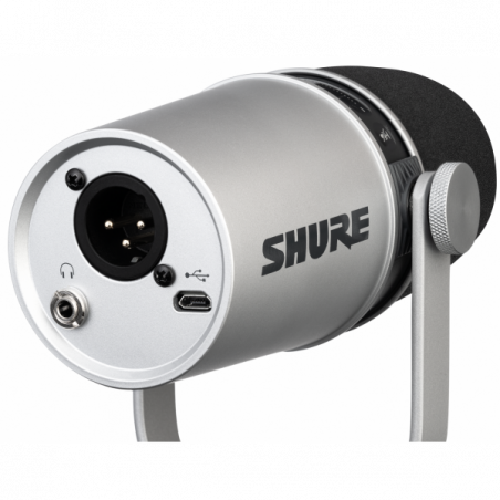 Micros Podcast et radio - Shure - MV7-S