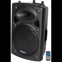 Enceintes amplifiées bluetooth - Ibiza Sound - SLK15A-BT