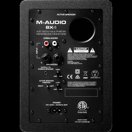 Enceintes monitoring de studio - M-Audio - BX4 (LA PAIRE)