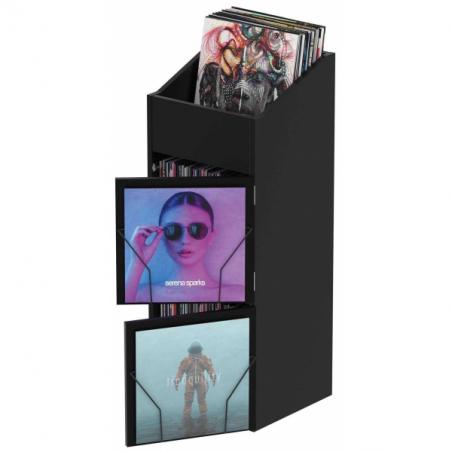 Meubles et pochettes de disques - Glorious DJ - RECORD BOX DISPLAY DOOR BLACK