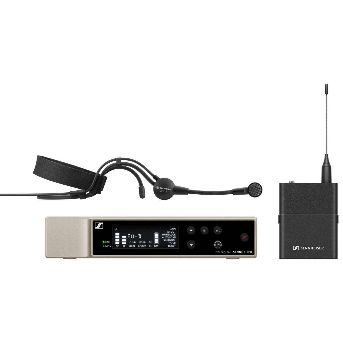 Micros chant sans fil - Sennheiser - EW-D ME3 SET Headmic Set